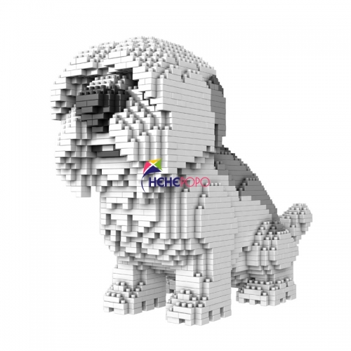 1800pcs 686-04 Cartoon Dog Mini Diamond Building Block Poodle Dachshund Corgi Husky Pug Model Brick Toy for Children Gifts