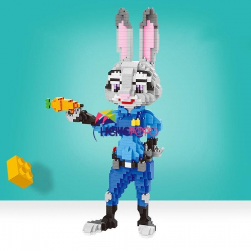 1750 Pcs 21815 21816 Animal Building Blocks Fox Nick Rabbit Judy Hopps Model Assembling Toys Kids Toys Gifts Compatible Dropship